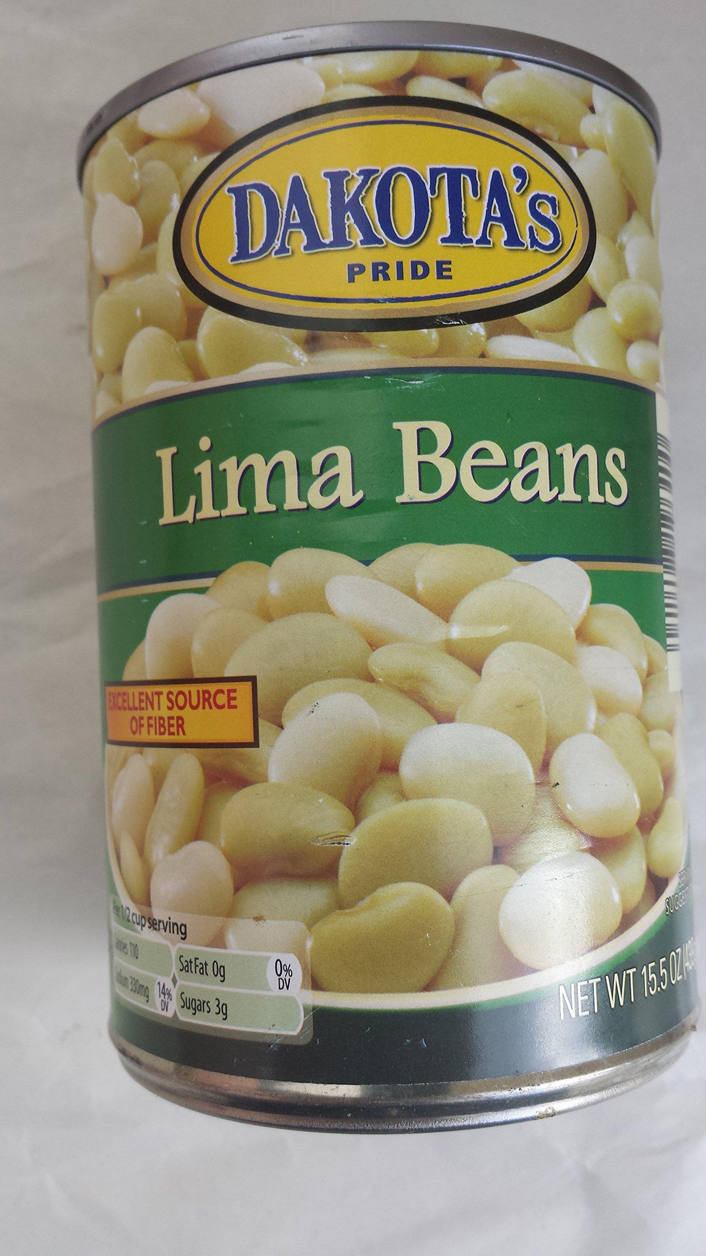 Dakota's Pride Lima Beans 15.5 Oz Can