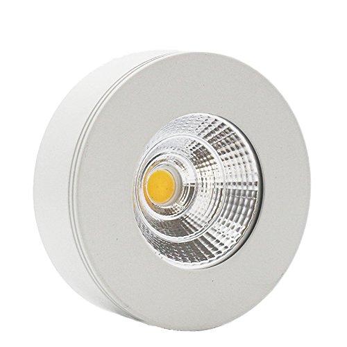 LEDIARY White Round LED Mini Downlight Ceiling Lamp Spotlight,5W,Cool White with LED Driver AC 90-260V