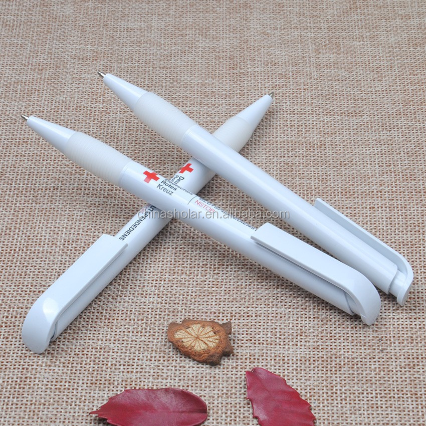 Cheapest solid white barrel ball pen,gift pen,ball-point pen