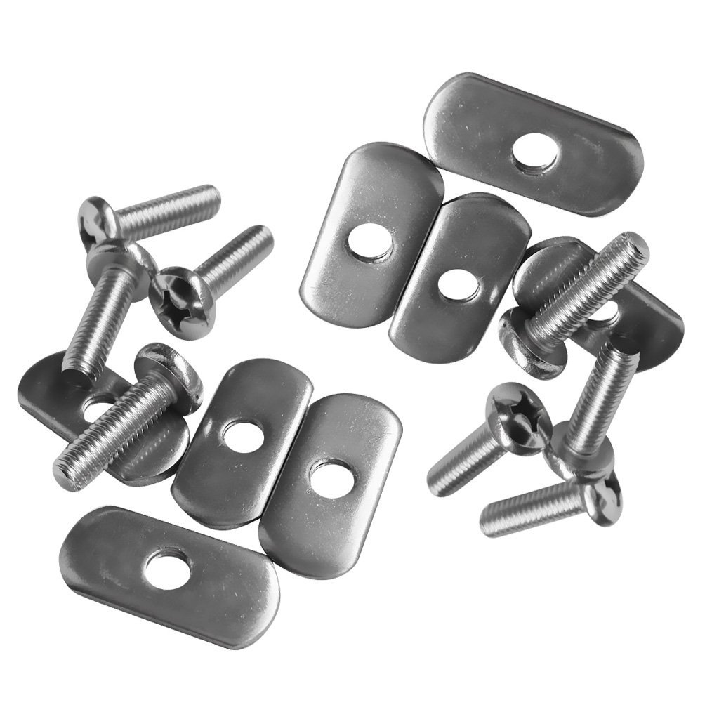 MagiDeal 8 Sets Durable Stainless Steel Screws & Nuts Hardware Replacement Kit Accessories for Kayak Track/ Rail
