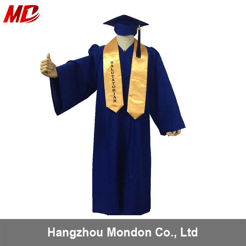 High School Graduation Gown Sample Shiny Royal Blue - Buy Gown ...