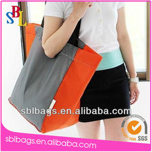 Canvas foldable reusable shopping bag, recycle cotton shopping bag