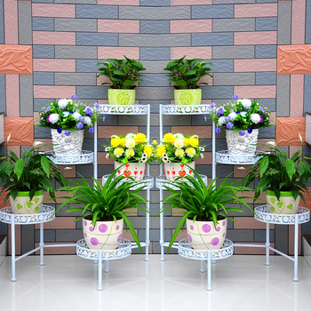 Xy1501 Garden Art Wholesale Flower Stand Shelf,Planters Folded Rack ...