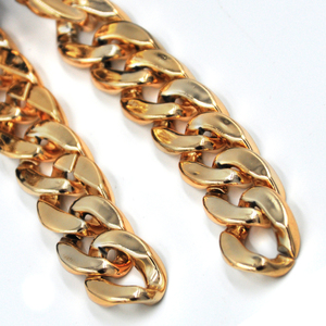2019 Trendy Big Flat Gold Plated Plastic Decorative Chain for Necklace Sunglasses Chain