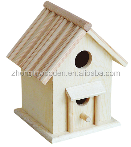 Natural Unfinished <strong>Wood</strong>,Unique Decorative Traditional <strong>Wood</strong> Birdhouse