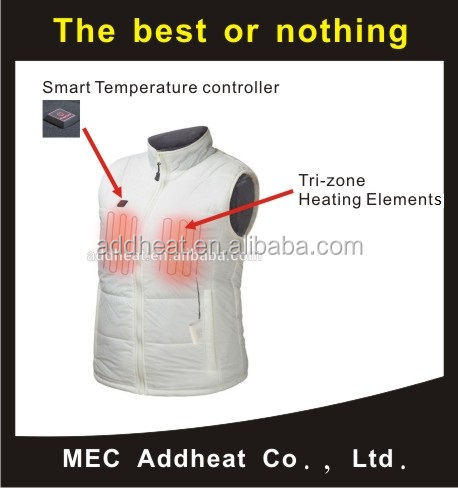 Heated Clothing with Battery Heating Element