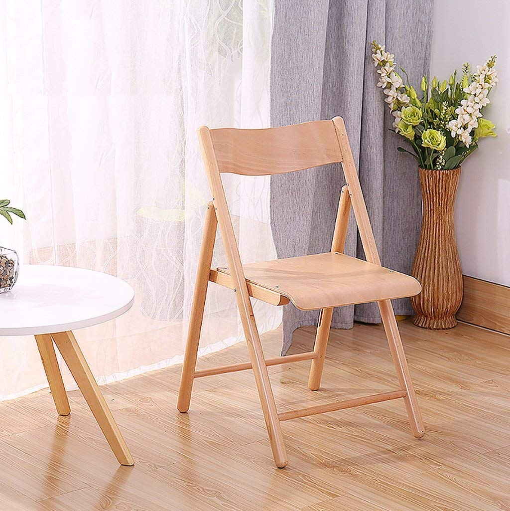 fold up chairs Wood color desk chair computer chair simple modern solid wood folding chair home leisure all wooden chair Folding Chairs