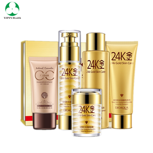24K Gold Chinese Moisturizing skin care 5 pcs set facial skin care products
