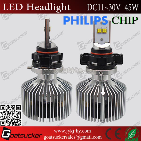 New Design!! Super Brightness 4500LM jetta headlight