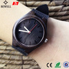 OEM serice cheap price Bewell Bamboo Wooden Watch with Black Genuine Leather Strap