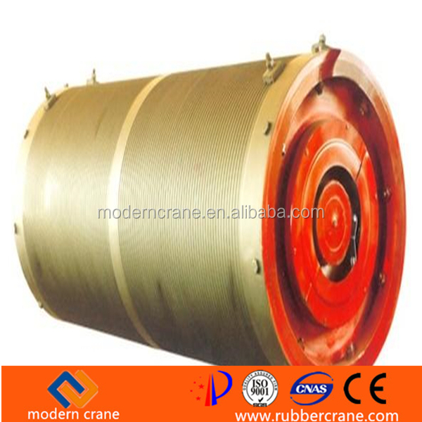 Materrial Handling Machined Steel Crane Drum, Gantry Crane Electric Motor Cable Reel Drum for sale