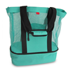 Mesh Beach Tote Bag with Insulated Picnic Cooler