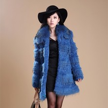 2017 New blue fox fur winter coats long section for women