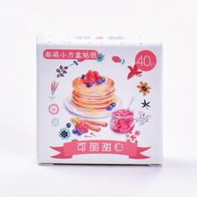 40 pcs/set Delicious Food Stickers Adhesive Stickers DIY Decoration Stickers H0986