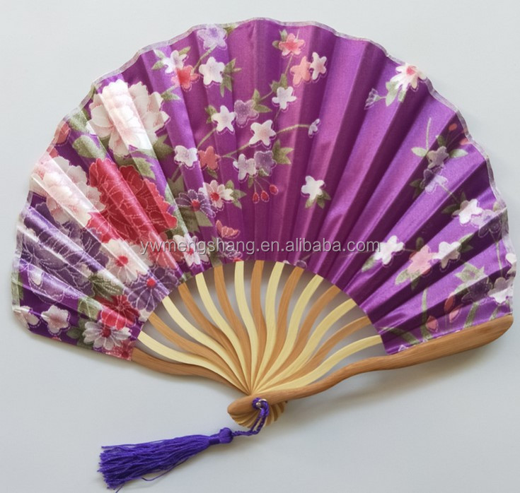 Round Foldable Nylon Hand Fan and Promotional Hand Fan