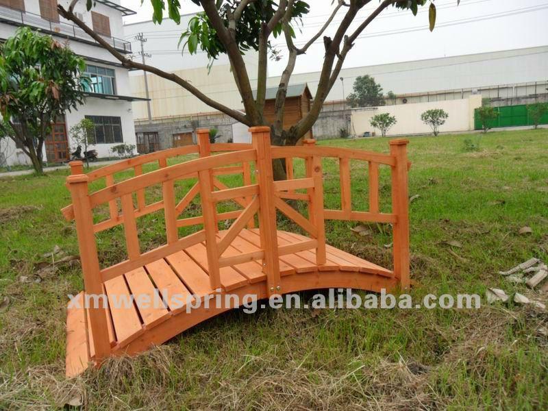 Puente de madera para jard n arcos emparrados p rgolas y - Arcos de madera para jardin ...