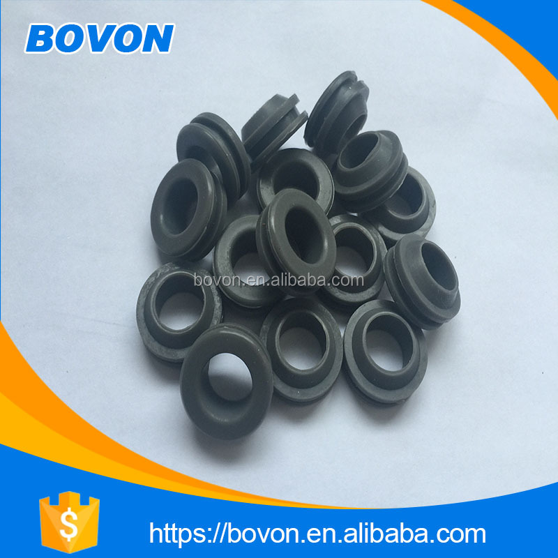Compression molded rubber door seals and solid rubber wheels