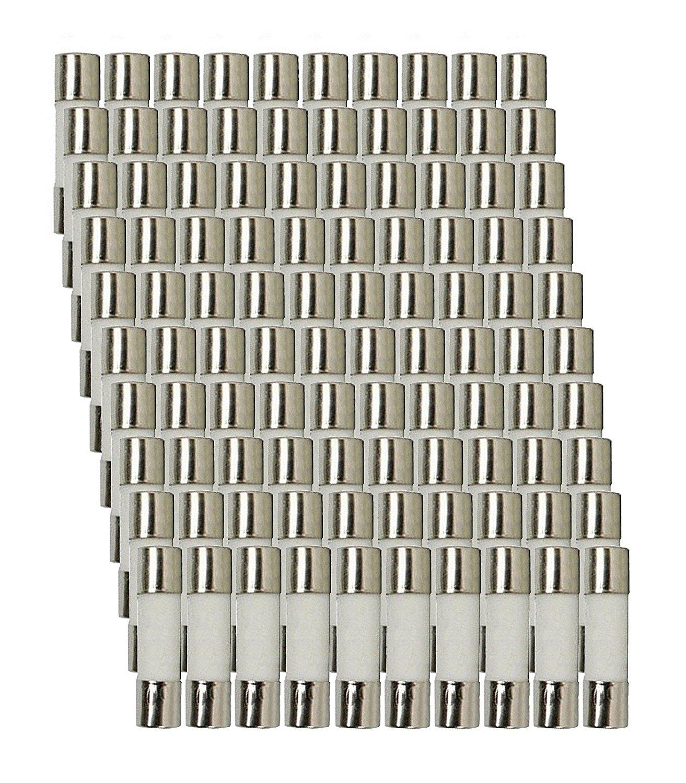 100 Qty. Divine Lighting 5x20mm 2.5A Slow-Blow Ceramic Fuse T2.5a 250v 5x20mm 2.5A Slow-Blow Fuse. T2.5a 250v Ceramic 5x20mm
