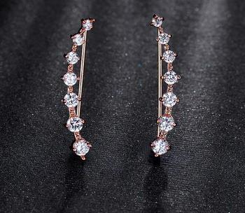 Fashion High Quality Names Of Earring Styles Cuff Zircon Jewelry