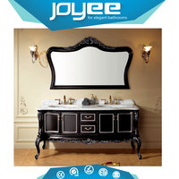J-XH822037classical double sink mirror bathroom vanity cabinet