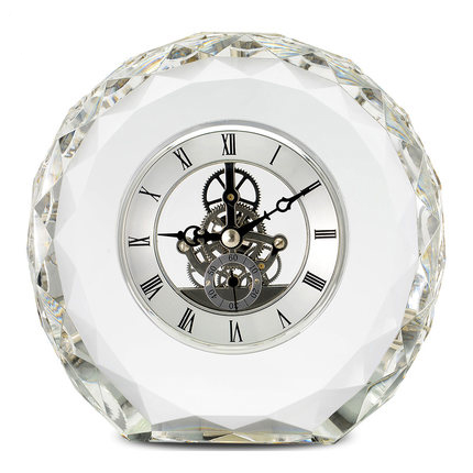 TIMESS crystal clock living room modern simple European creative fashion quiet office decoration