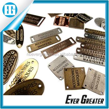 Custom Metal Bag Label Handbag Labels Designer For Handbags