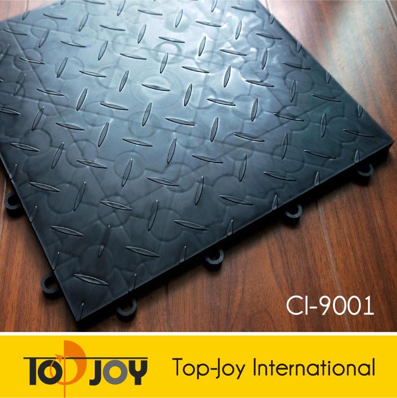 pp schwarz verriegelung garagenboden fliesen plastikboden. Black Bedroom Furniture Sets. Home Design Ideas