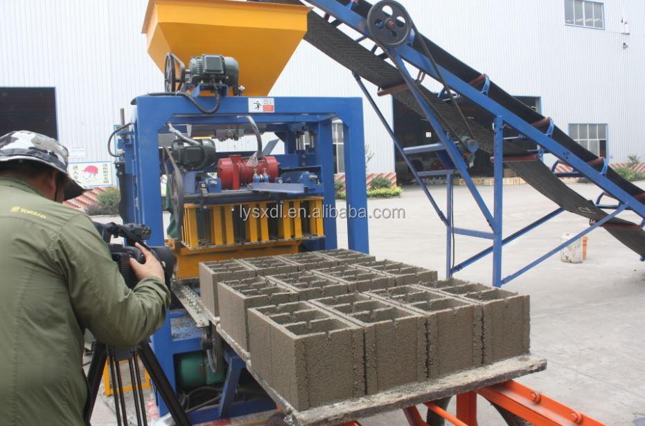 Qt4 24 Paver Block Machine Concrete Brick Plant Block