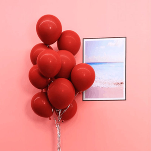 10inch Thick Ruby Latex Balloon For Wedding Valentine Day New Year Graduation Birthday Party Supply Decoration