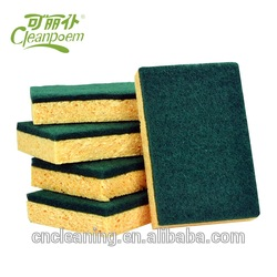 Manufacturer supply kitchen cleaning sponge green scouring pads