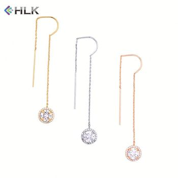 2018 Newest Design 4 Gram Qualify Fashion Jewelry Turkish Real Gold Plated  Stick Hanging Chains Crystal Earrings - Buy Newest Design 4 Gram Gold