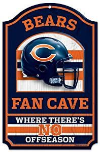 "NFL Fan Cave Wood Sign, 11"" x 17"""