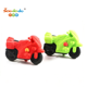 Novelty 3D Motorcycle Shaped Rubber Eraser For Promotional