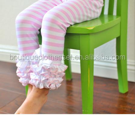 586aa2c629bf1 Baby Girls Cotton Leggings Boutique Light Pink & White Stripe Leggings Kids  Winter Legging With Ruffles