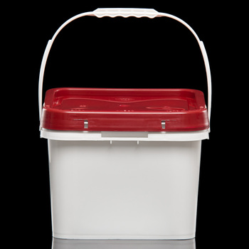 Made in Taiwan 8 Liter PP Square Bucket With Lids