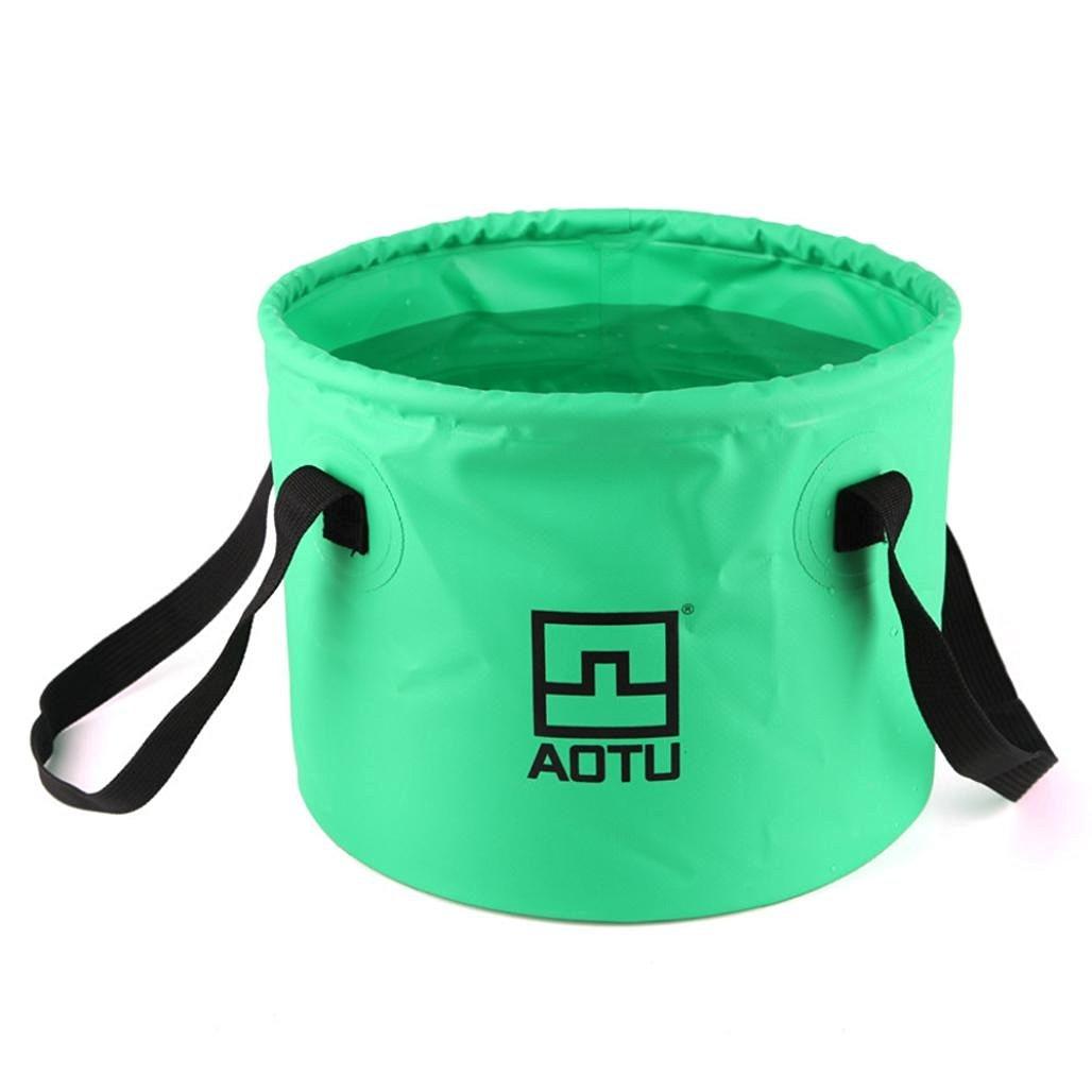 Camping Wash Basin Folding Bucket , Hmlai@ Aotu Collapsible Bucket Multifunctional Folding Bucket For Camping Hiking