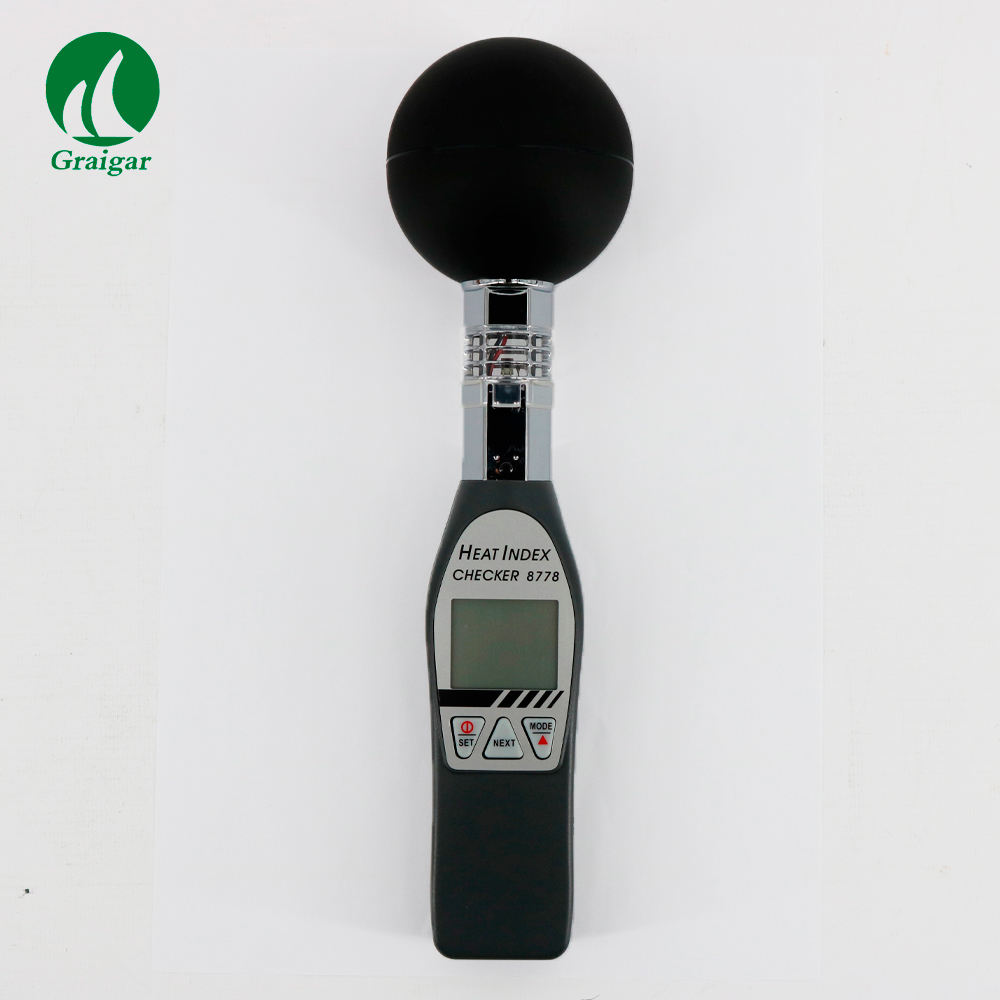 AZ8778 Digital Hygrothermograph Black Bulb Thermometer Simultaneously display temperature and humidity