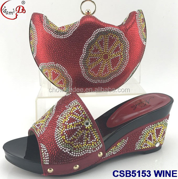 stock high crystal older in bag shoes women wholesale and Nigerian yellow heel nggPBX