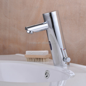 Modern bathroom cold hot water automatic sensor brass faucet