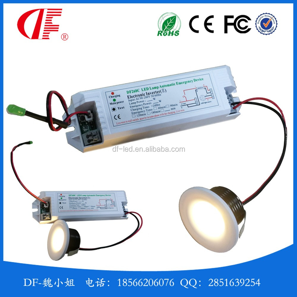 1w 3w Led Emergency Downlamp Led Emergency Light Mini