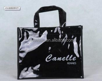 29126204bb6b Shiny Black Vinyl Pvc Tote Bags - Buy Pvc Tote Bags