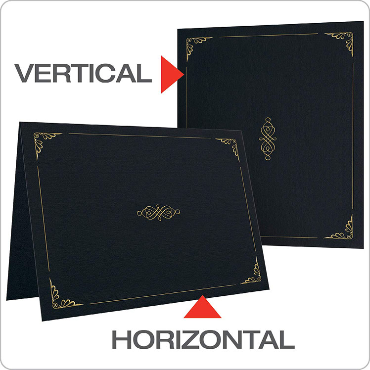 Personalized Leather Custom Printed Legal A4 Size Document File Folders Certificate Holder