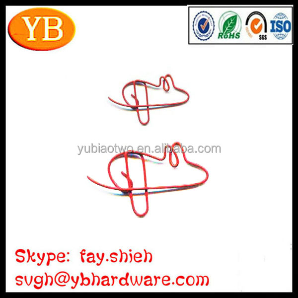 Plastic Coated Steel Wire Cute Animal Shaped Paper Clips
