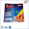 3 side sealed plastic food aluminum vacuum packing bag, nylon retort pouch for frozen food with tear notch