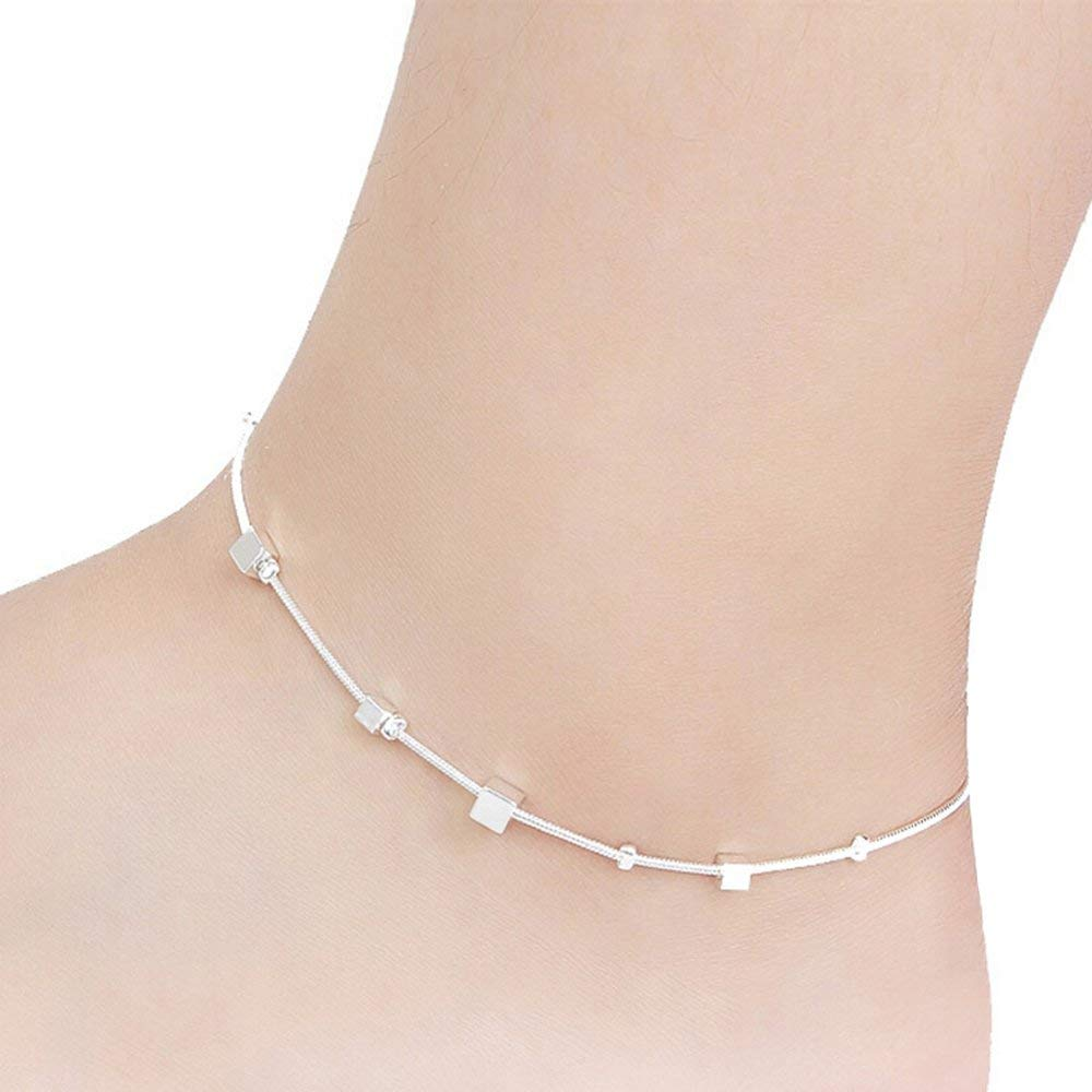 Yantu Mens Womens Leather Rope Anklet Ankle Bracelet Barefoot Sandal Beach Foot Chain