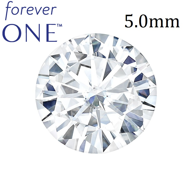 THE BEST Certified Round Brilliant Cut Charles Colvard FOREVER ONE Moissanite Loose <strong>Stones</strong> Wholesale 0.5 Ct 5 mm Colorless D E F