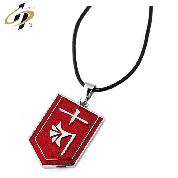 Japanese anime style wholesale high quality custom soft enamel silver dog tag with chain