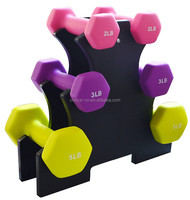 Home gym fitness body building female dumbbell
