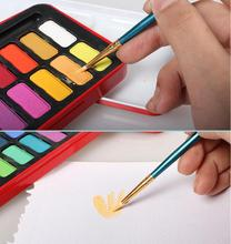 Popular artist water color cake professional watercolor paint set tin box watercolor with art brush