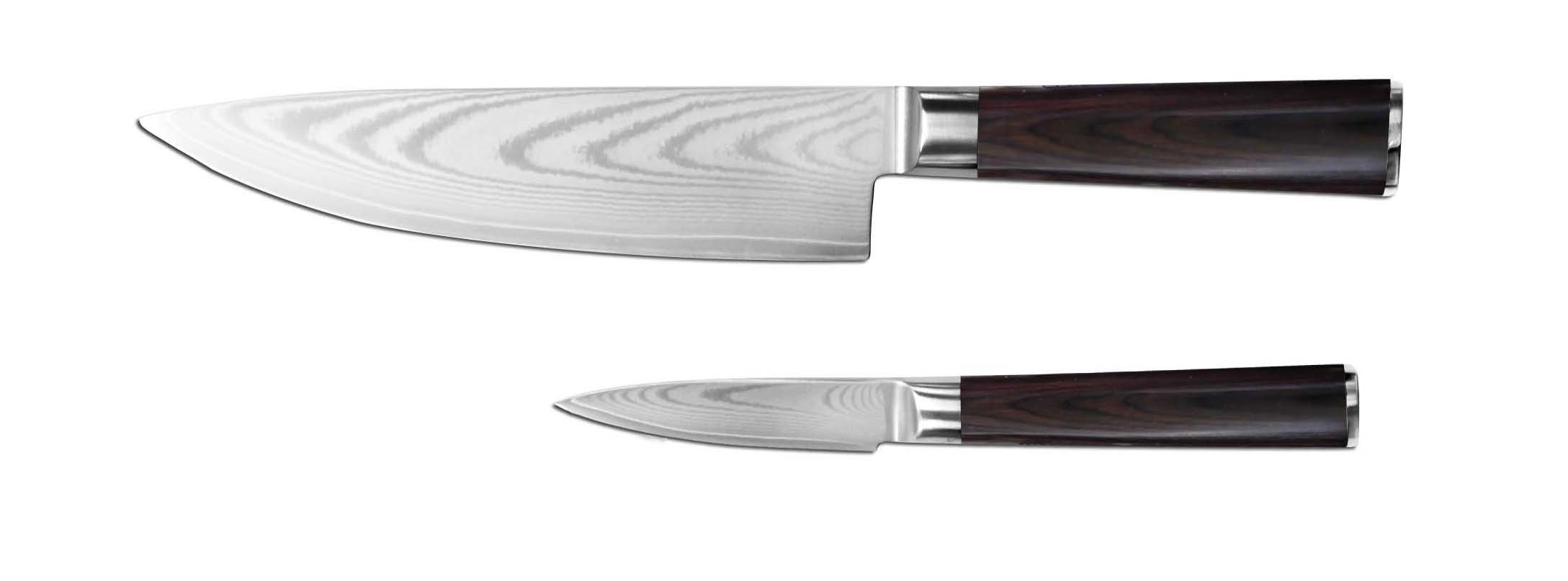 Export Stock 2pcs Good Quality Damascus Kitchen Knife